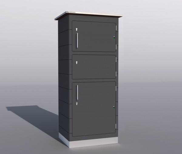 gro e paketbox f r pakete. Black Bedroom Furniture Sets. Home Design Ideas