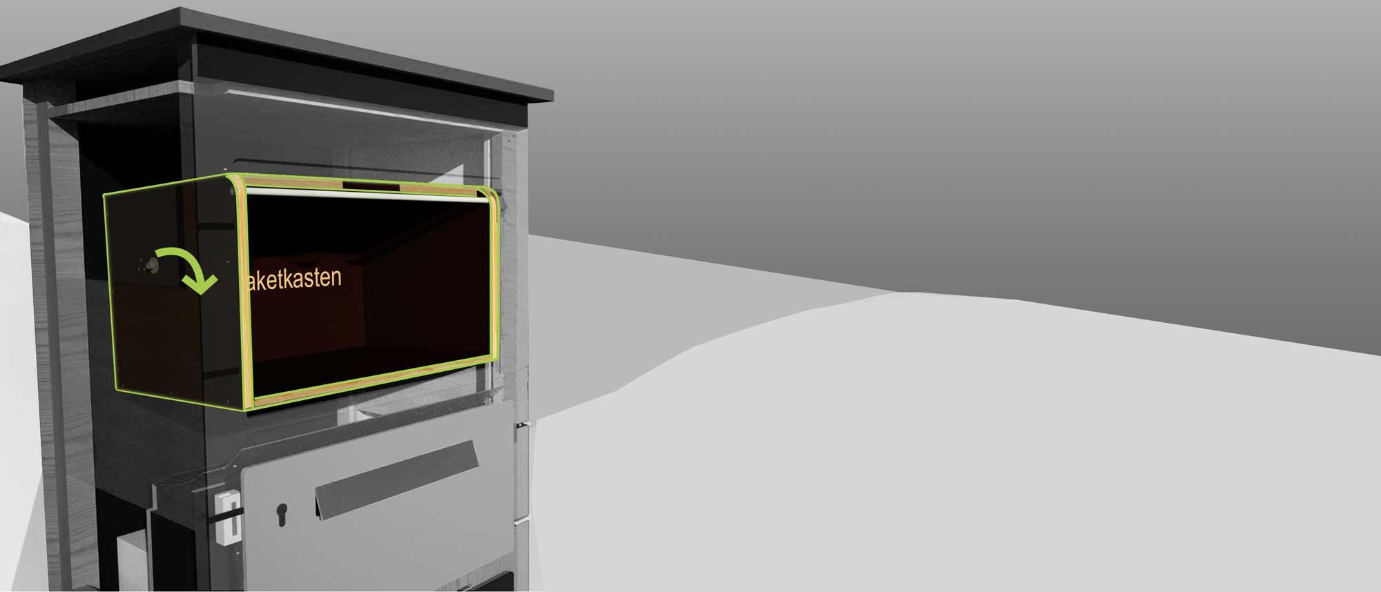 der gro e paket briefkasten f r ihr zuhause mypaketkasten. Black Bedroom Furniture Sets. Home Design Ideas